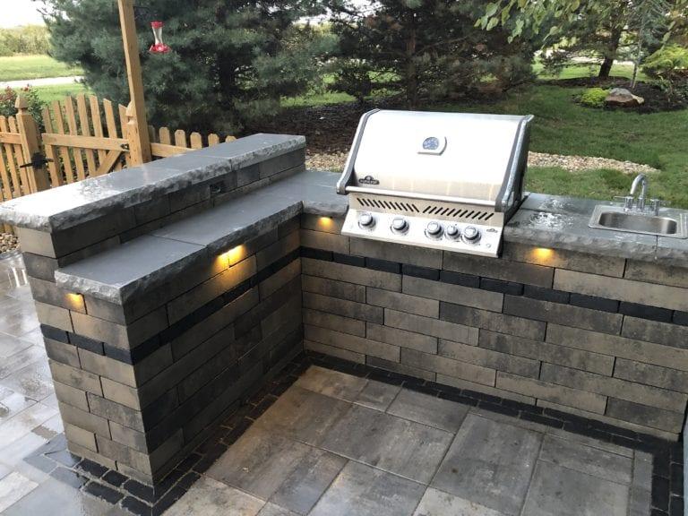 outdoor hardscape kitchen kansas city