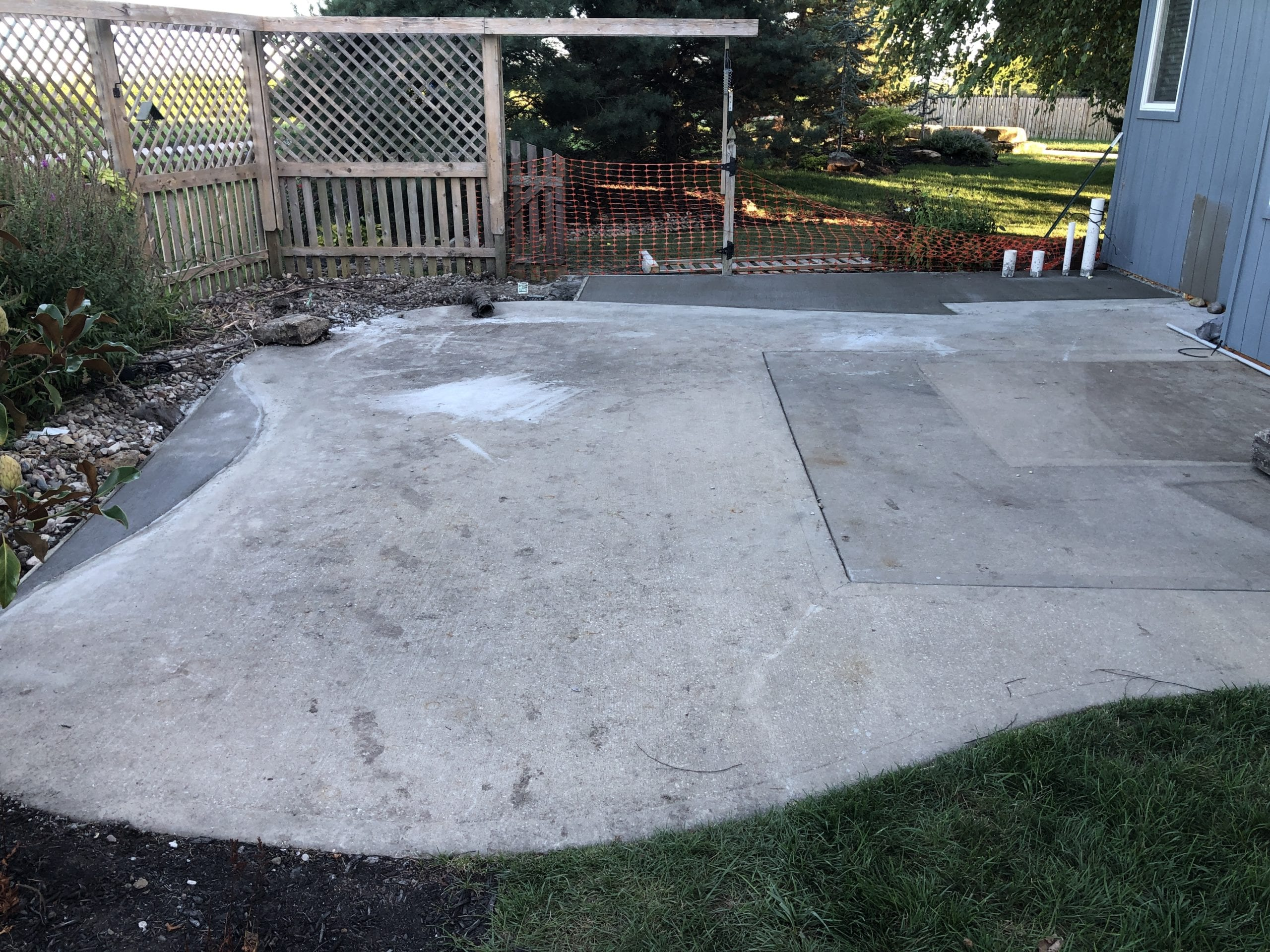 expanded existing concrete patio