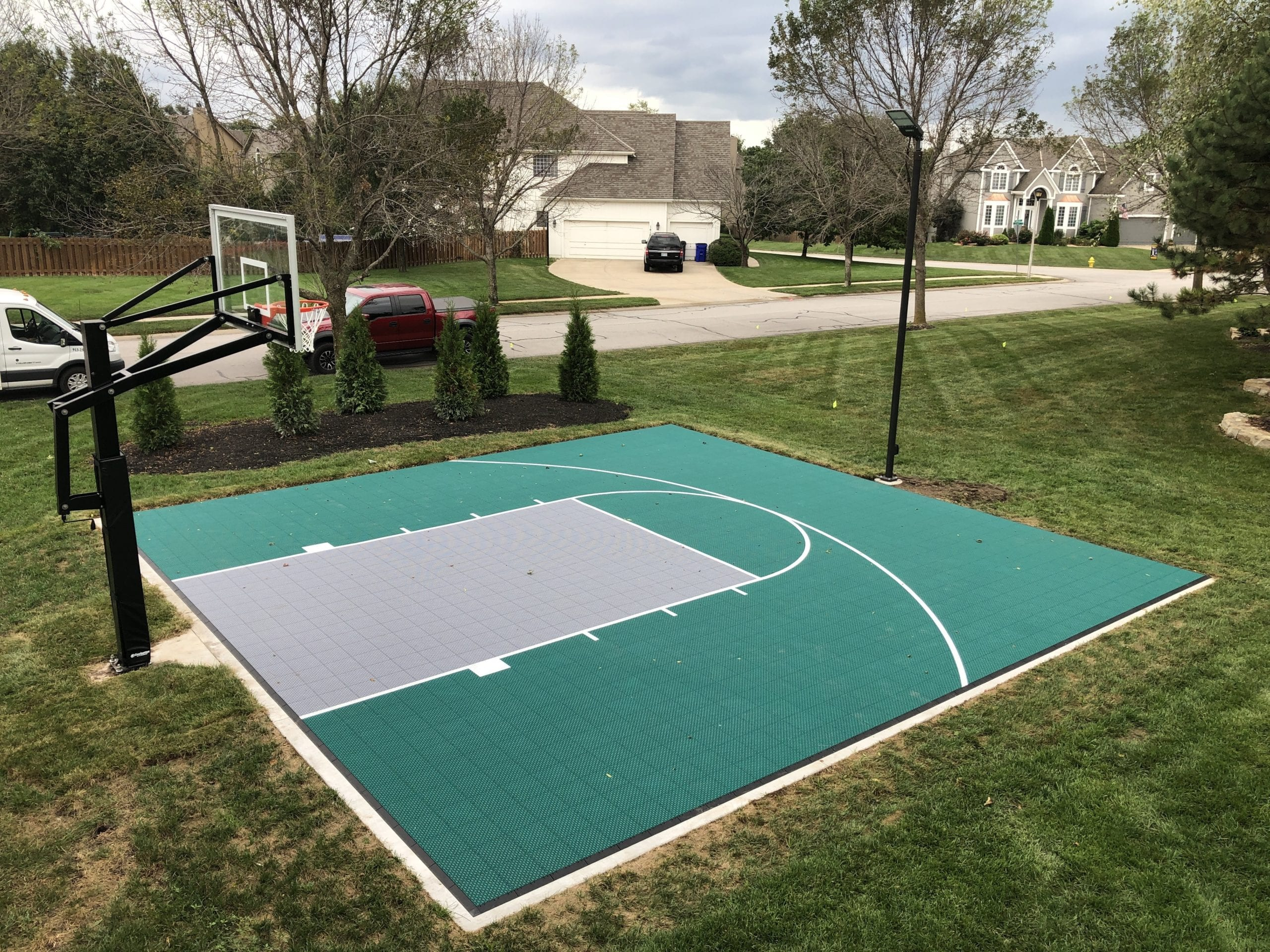 Outdoor Basketball Athletic Court