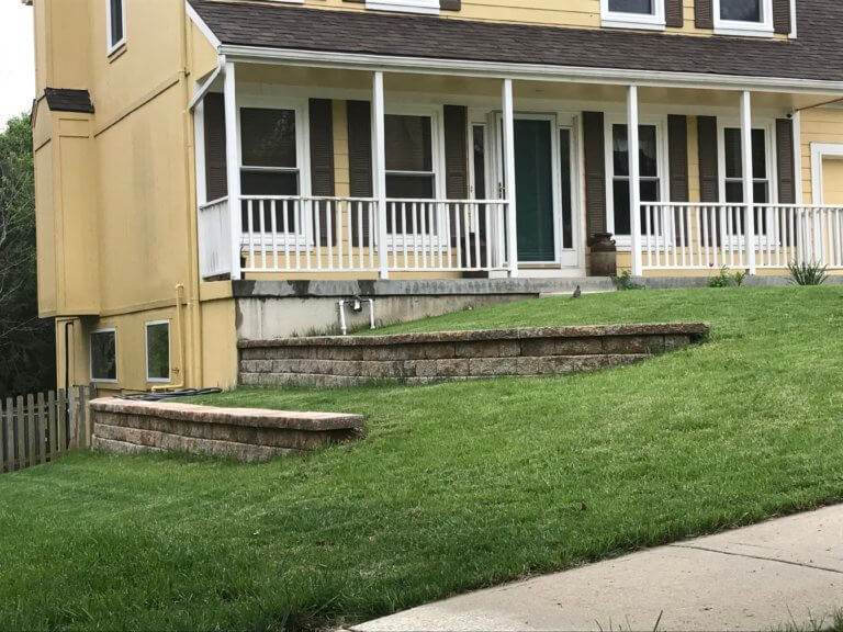 Tiered Residential Retaining Wall